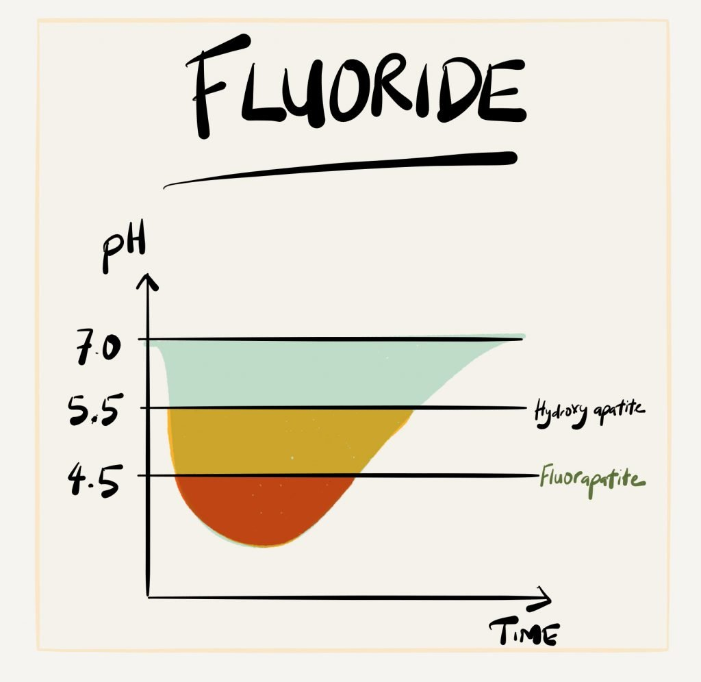 Fluoride pH and Time Graph